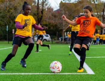 Students in the DC Scores program combine soccer with education and service learning opportunities